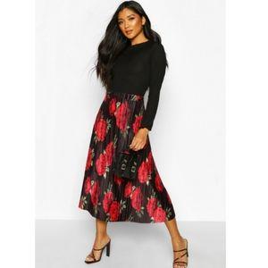 NWT ASOS | Floral Midi Skirt